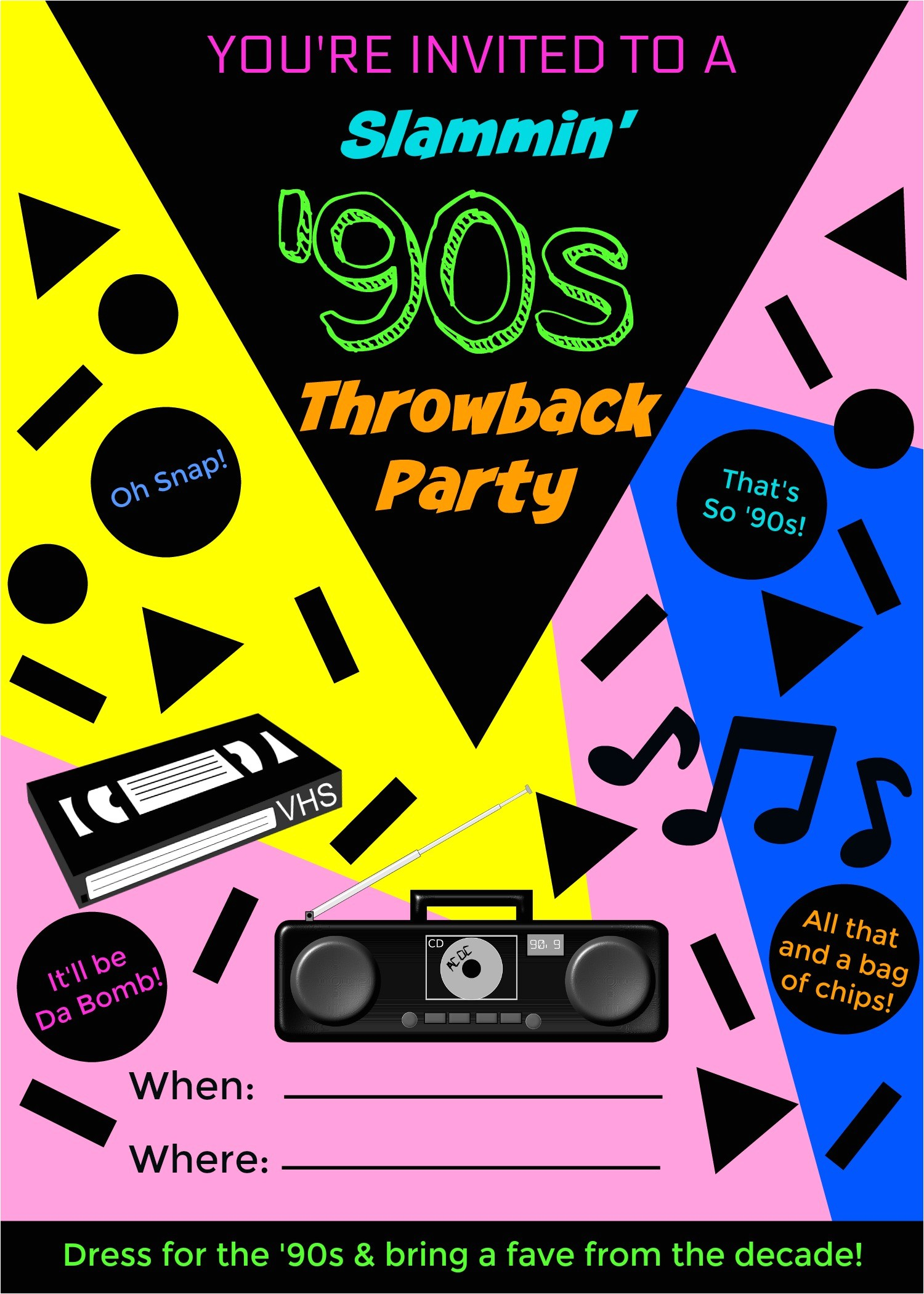 90s throwback party