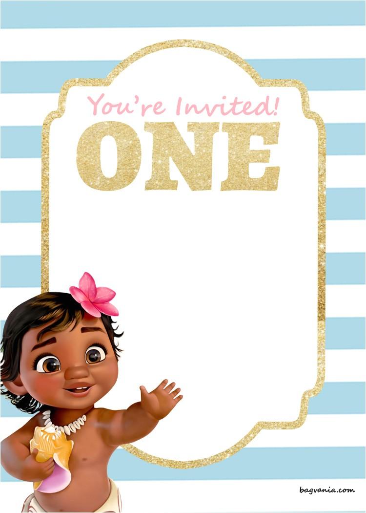 free printable disney princess 1st birthday invitations templates