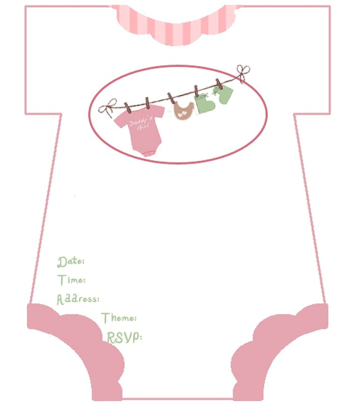 diaper baby shower invitations free template