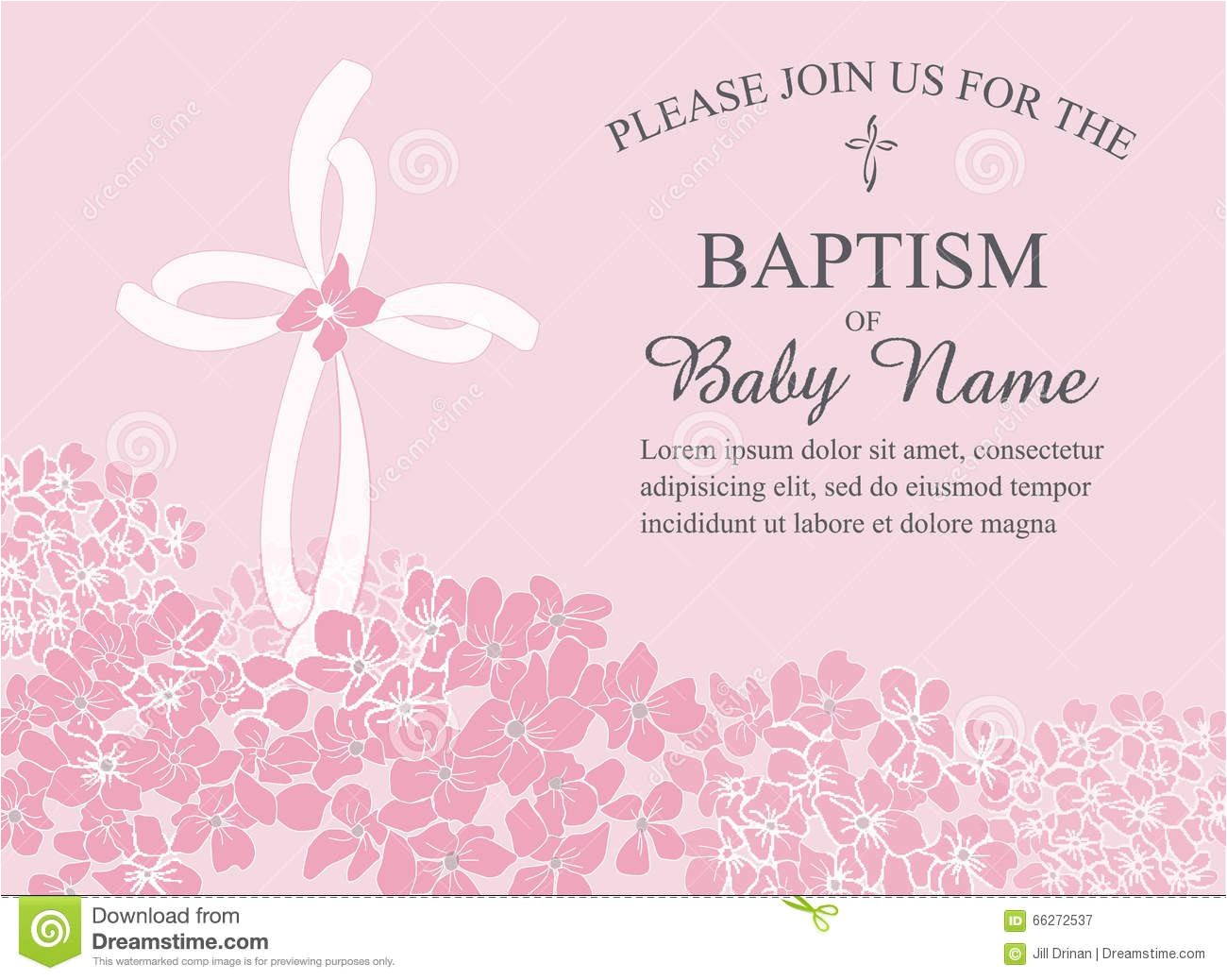 baptism invitation templates word