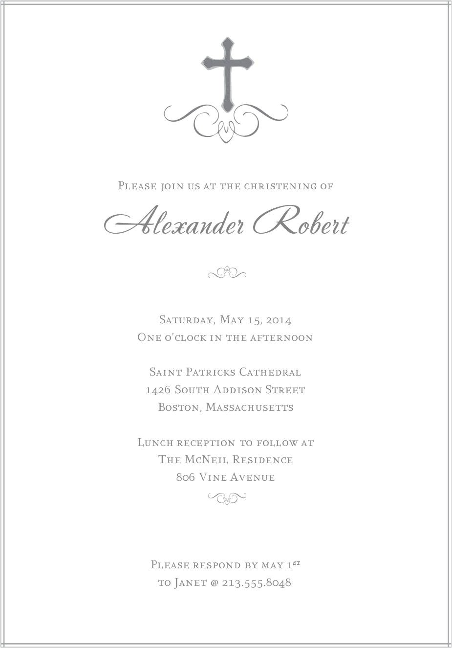 free printable baptism invitation card