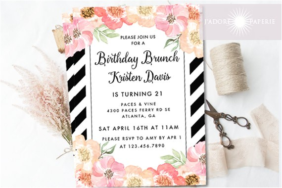 birthday invite birthday brunch