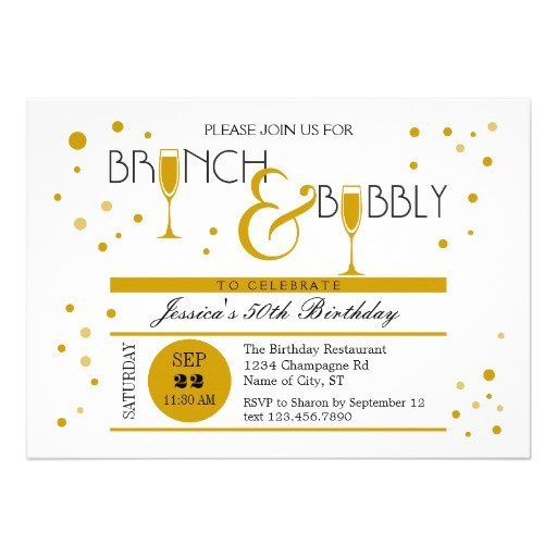 brunch and bubbly birthday invitation 161941932772320546