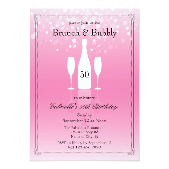 brunch and bubbly birthday invitation 161415161913667852