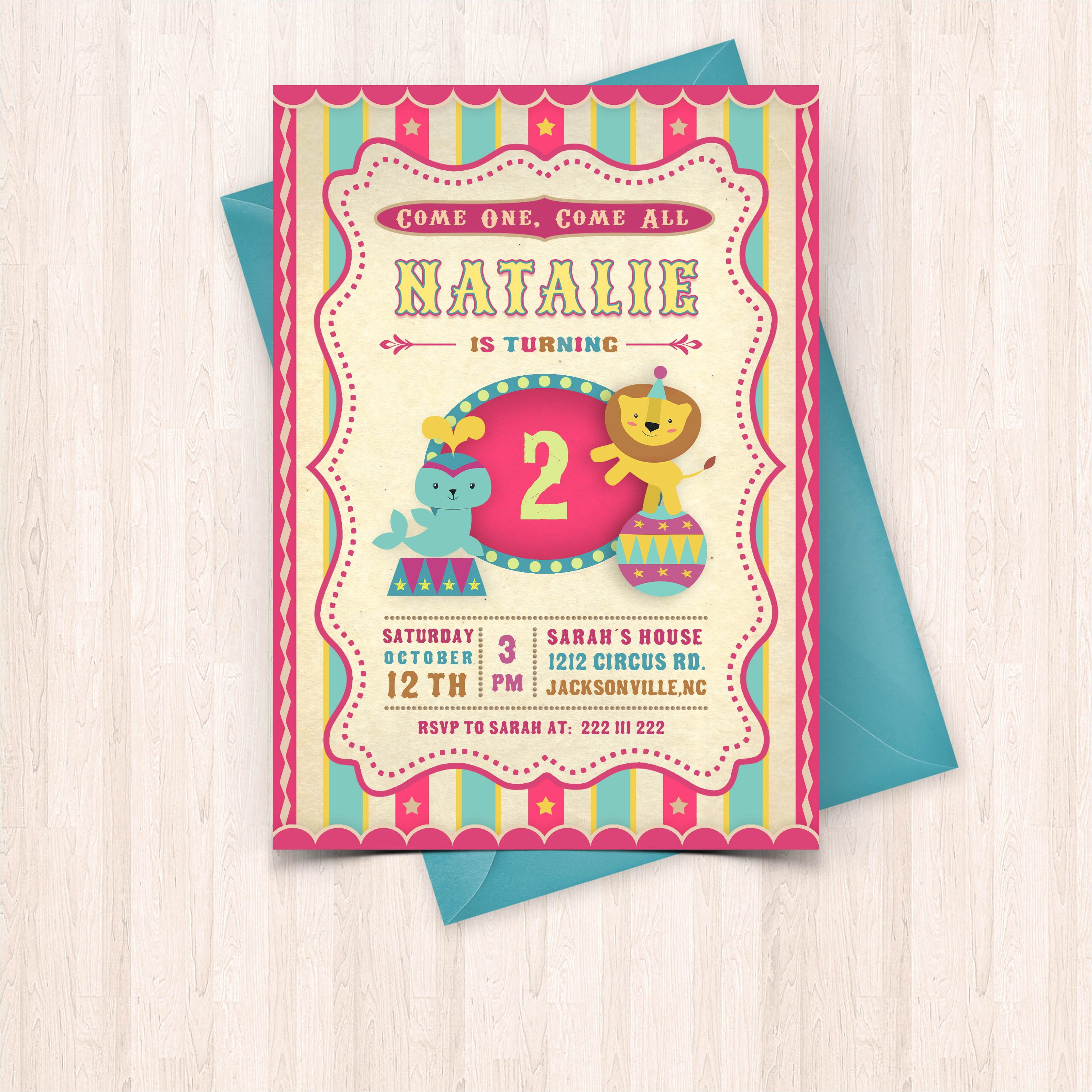 printable circus birthday invitations free thank you cards to print at home