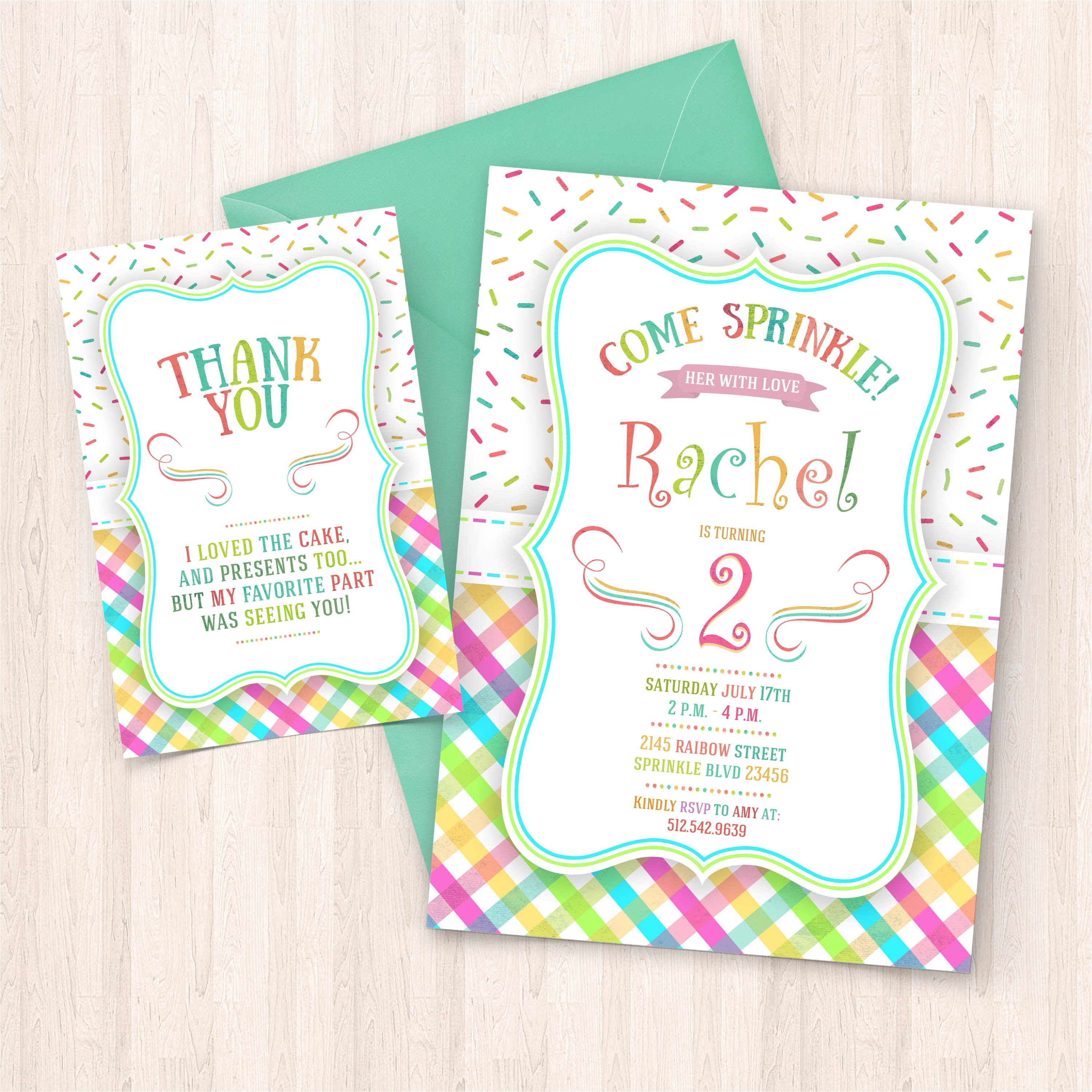 printable sprinkle birthday invitations free thank you cards to print at home