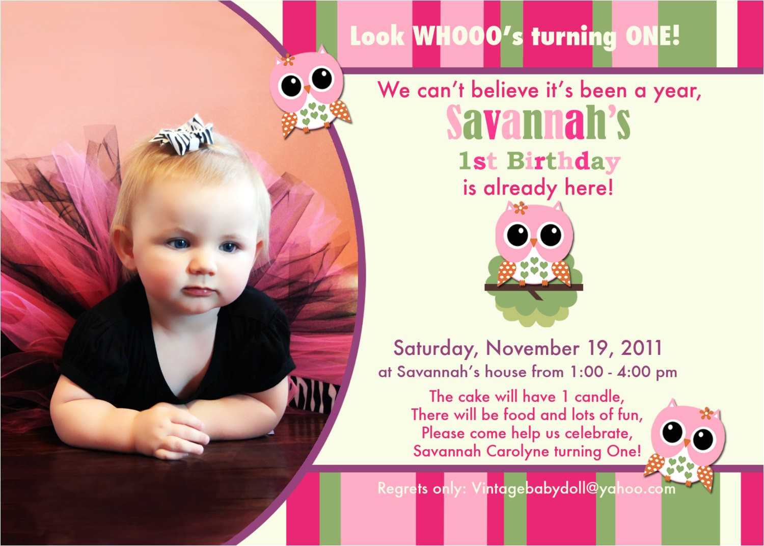 1 year old birthday invitation templates free