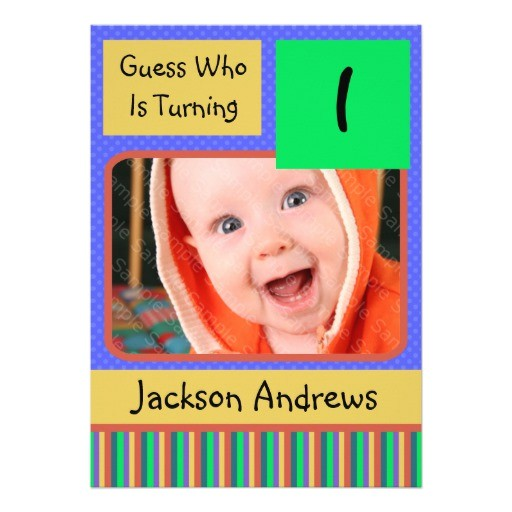 1 year old birthday party invitations boy 161965385627237449