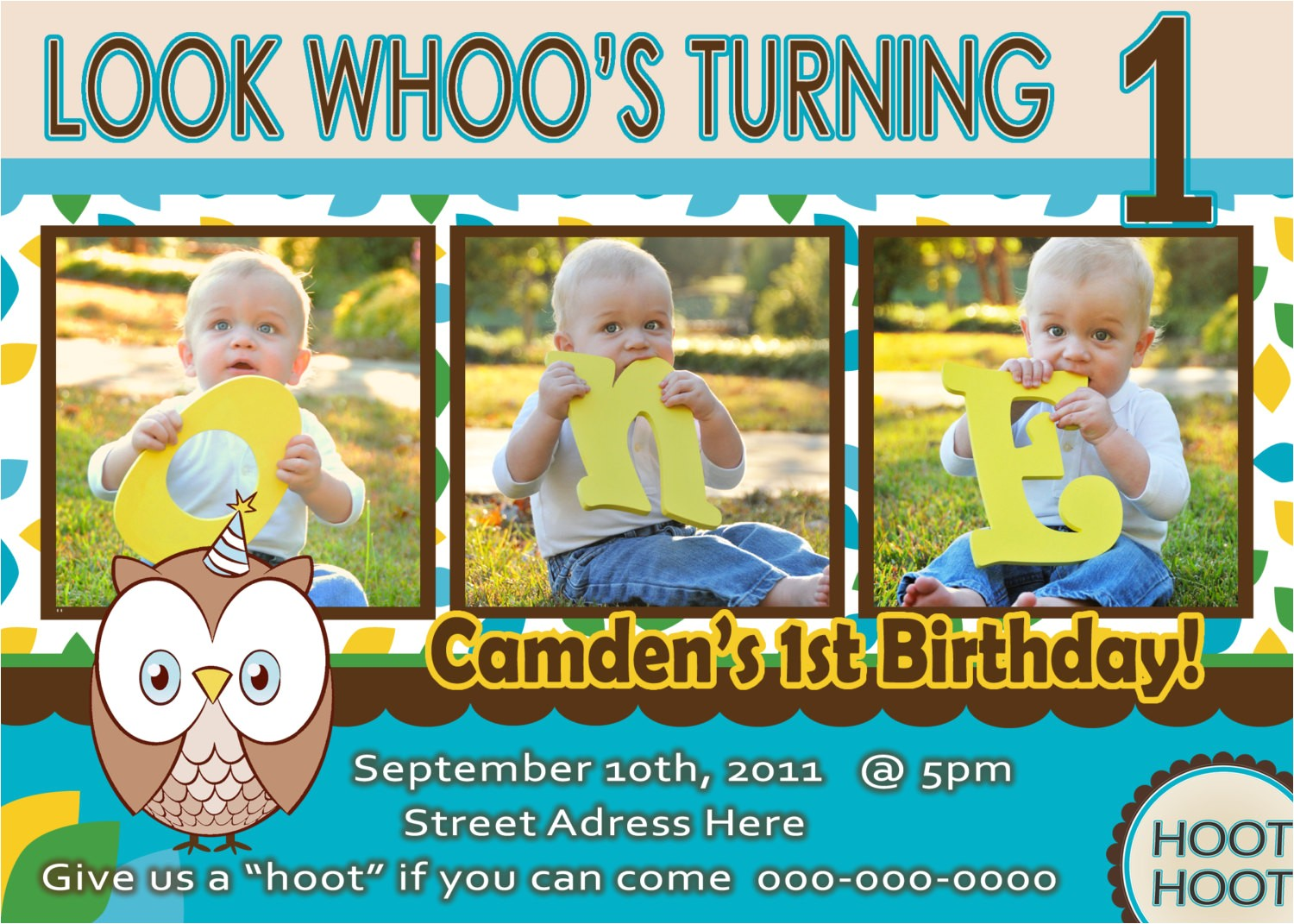 one year old birthday invitations