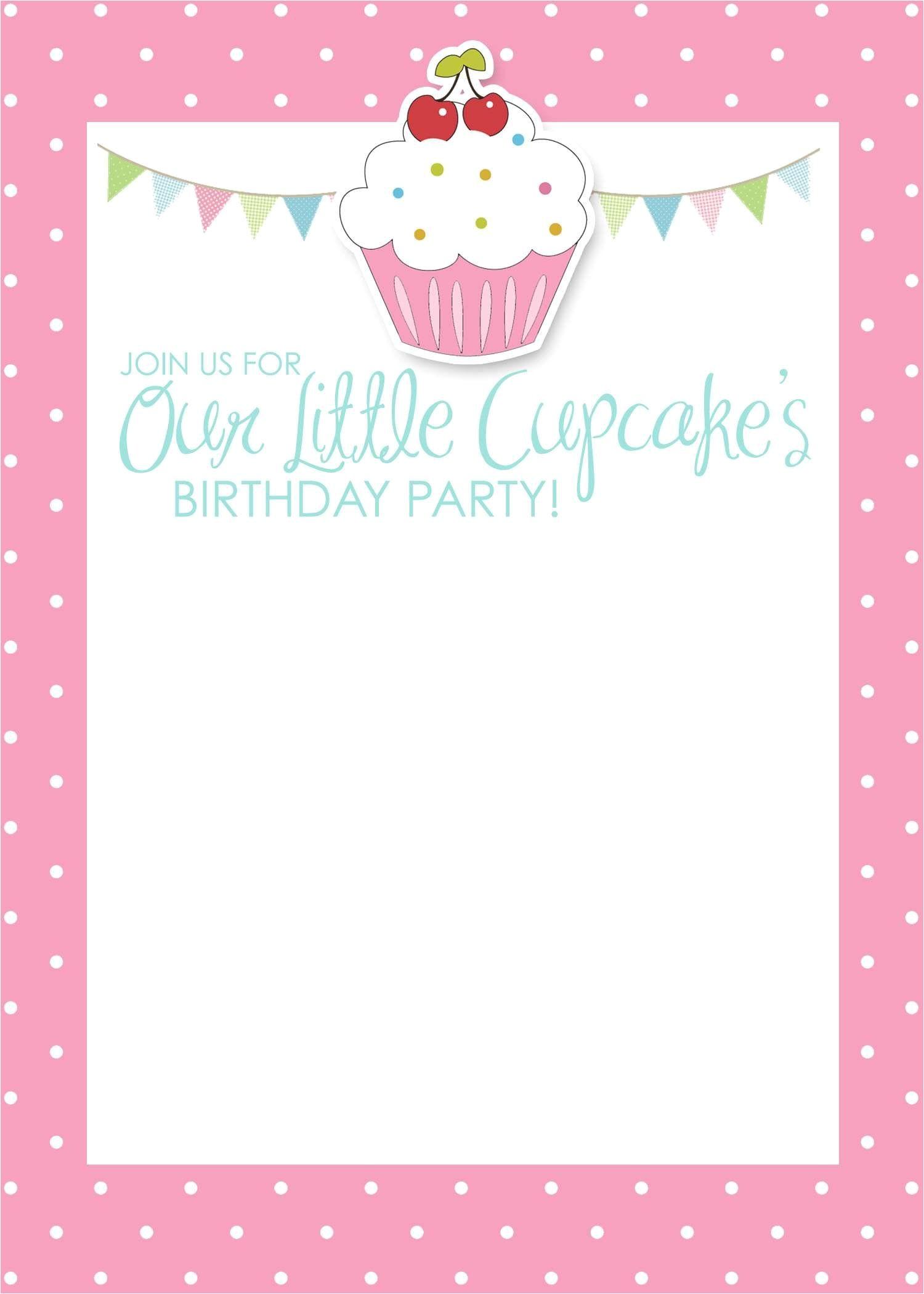 Free Birthday Invitation Templates with Photo Birthday Invitation Card Template Free