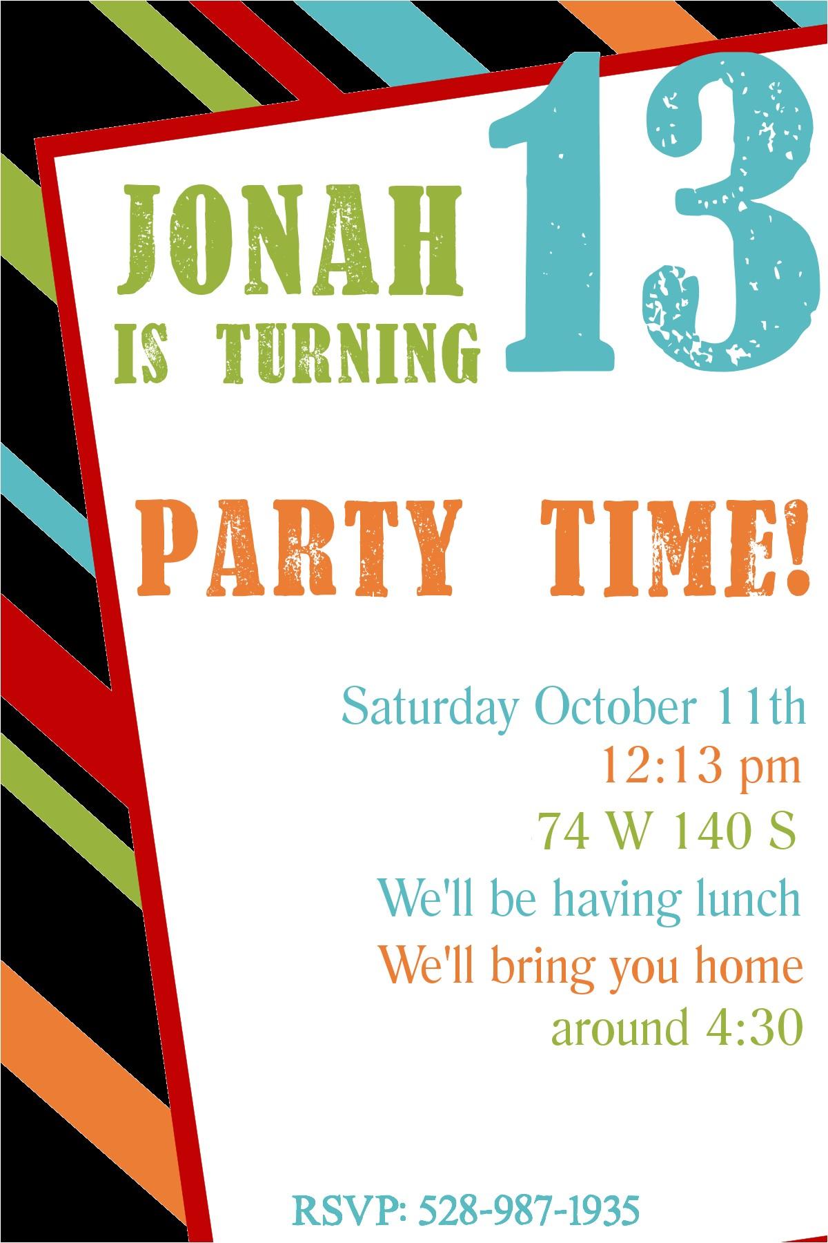 free printable birthday invitation templates