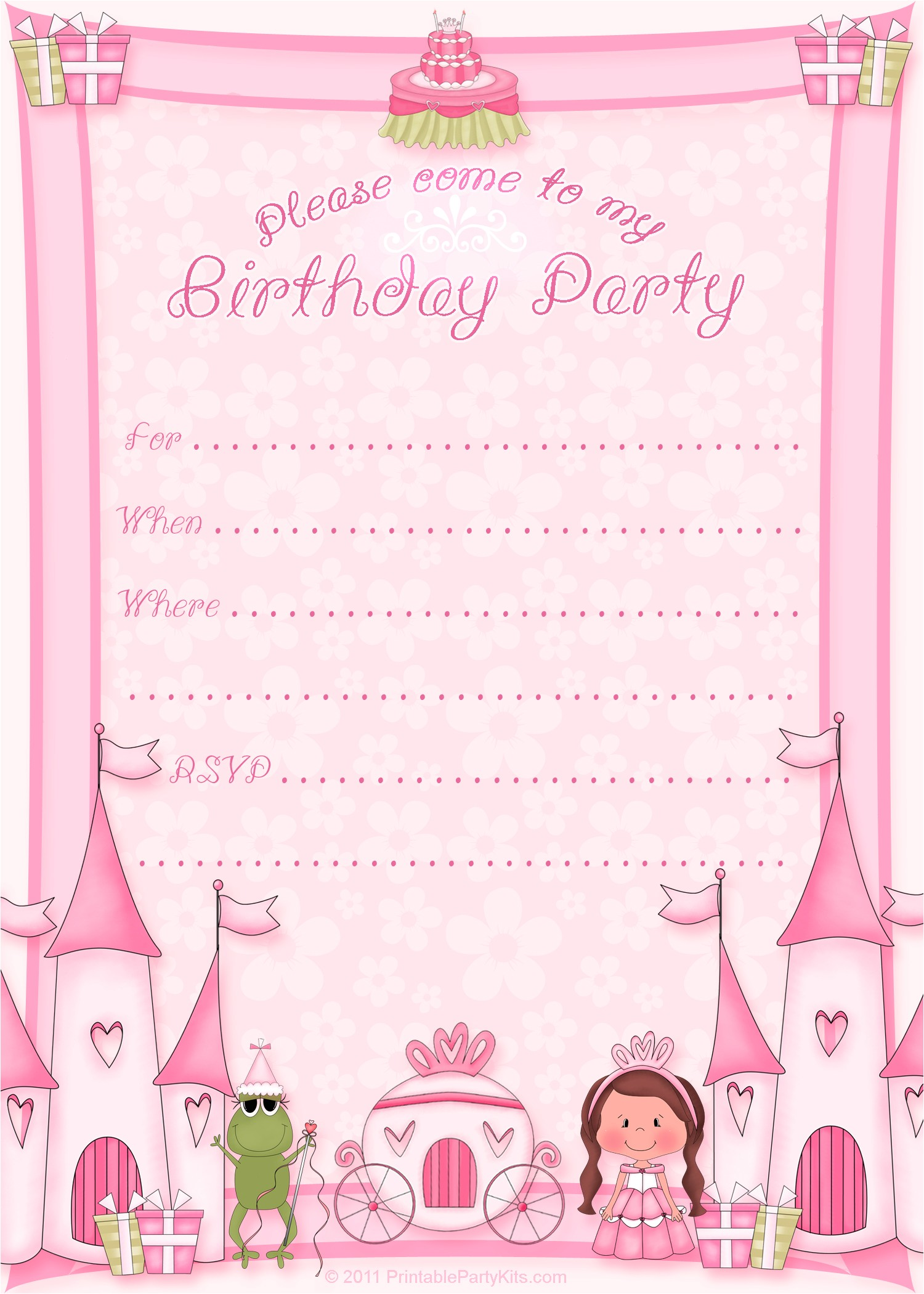 Free Birthday Invitations Templates Printable 50 Free Birthday Invitation Templates – You Will Love