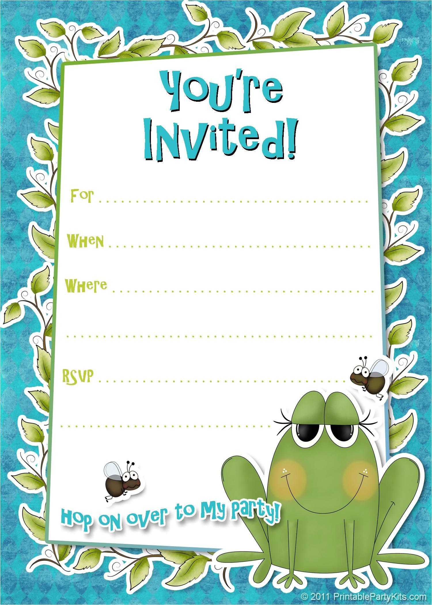 free printable party invitations templates