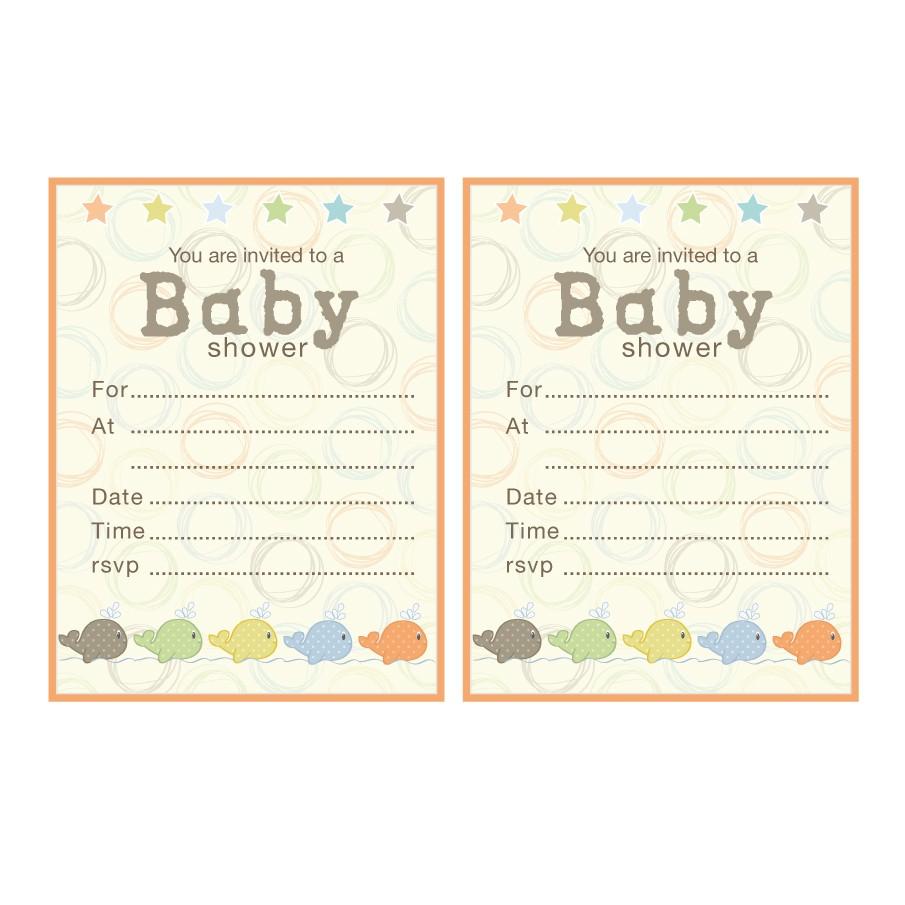 blank baby shower invitations free 2