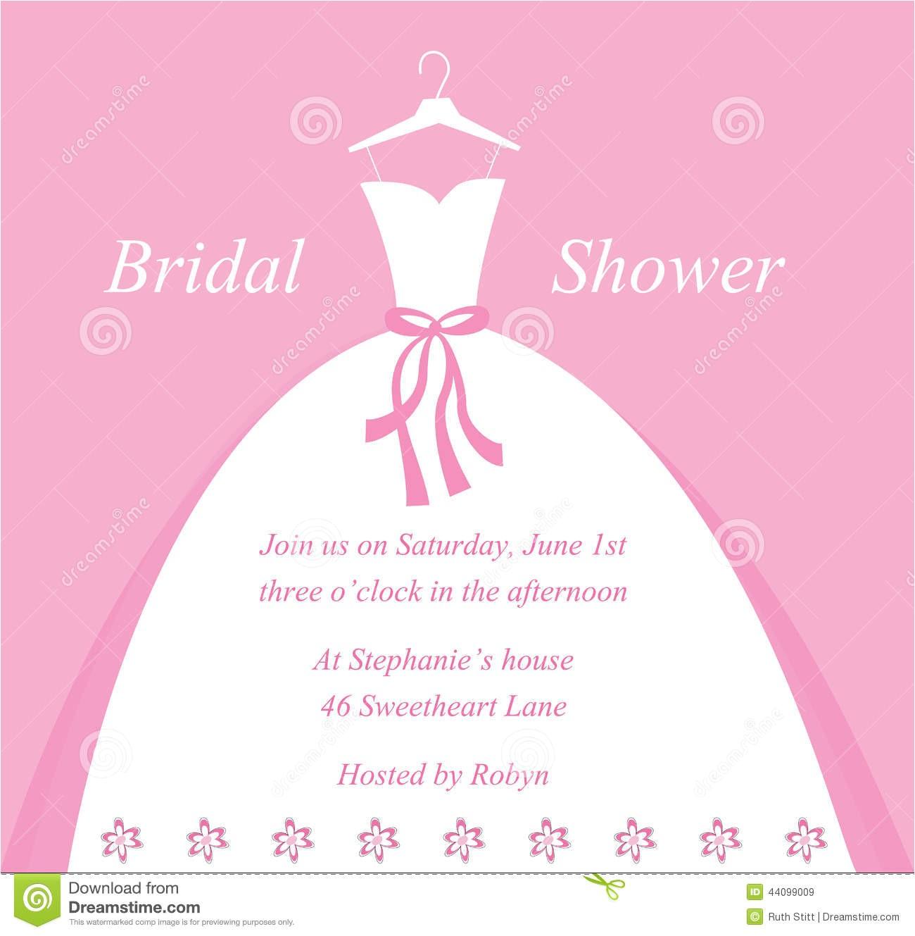 stock illustration bridal shower invitation beautiful pretty image