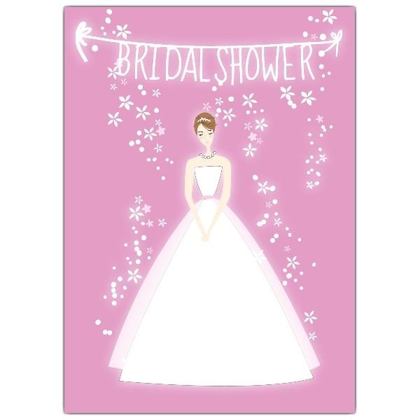 Bride Pink Bridal Shower Invitations p 605 57 PS134