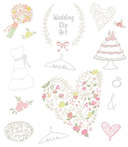 free wedding shower clip art