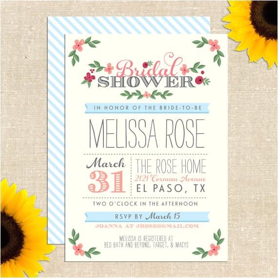 post free printable bridal shower wedding invitations