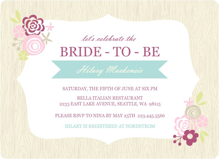 bridal shower invitations etiquette template