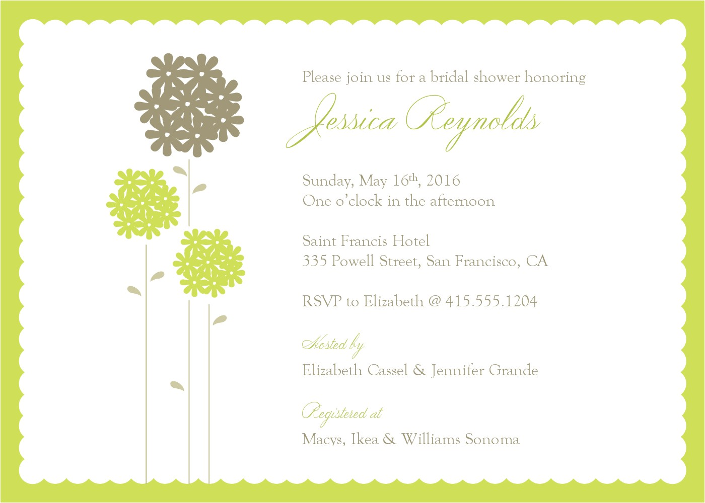 Free Bridal Shower Invitation Templates Download Wedding Shower Invite Template