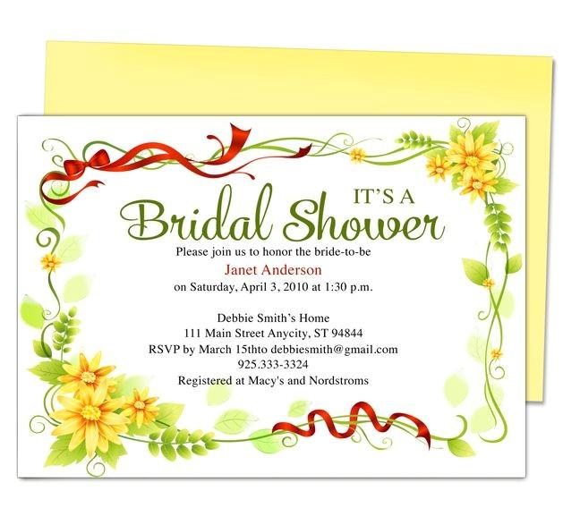 wedding bridal shower invitation templates