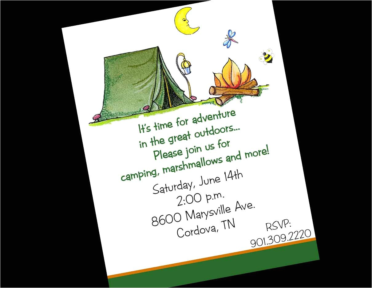 10 camping camp tent birthday party