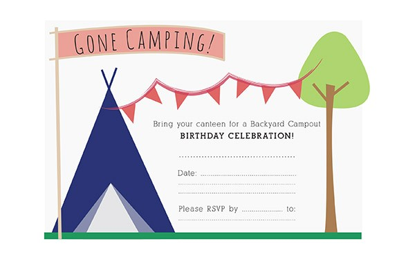 18 stunning camping birthday party invitations