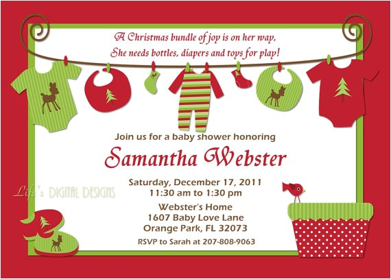 christmas baby shower invitations baby