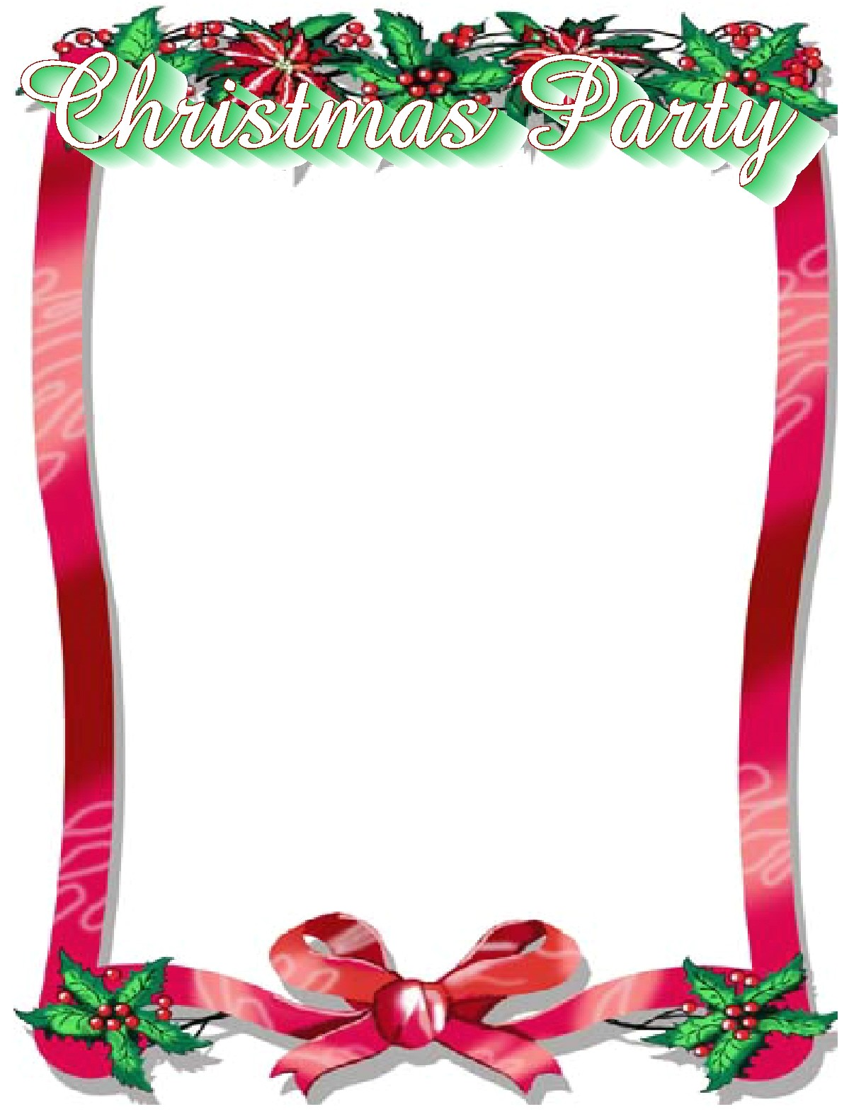 christmas party border clip art