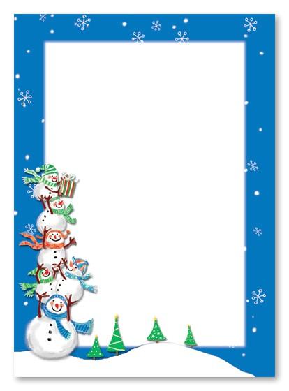 christmas snowman borders