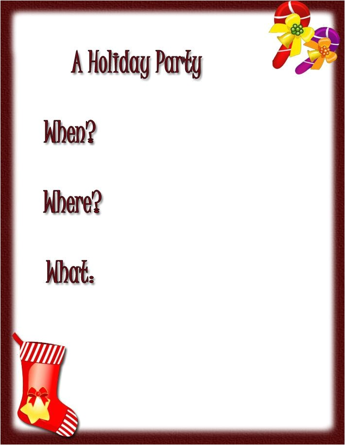 free christmas border printables