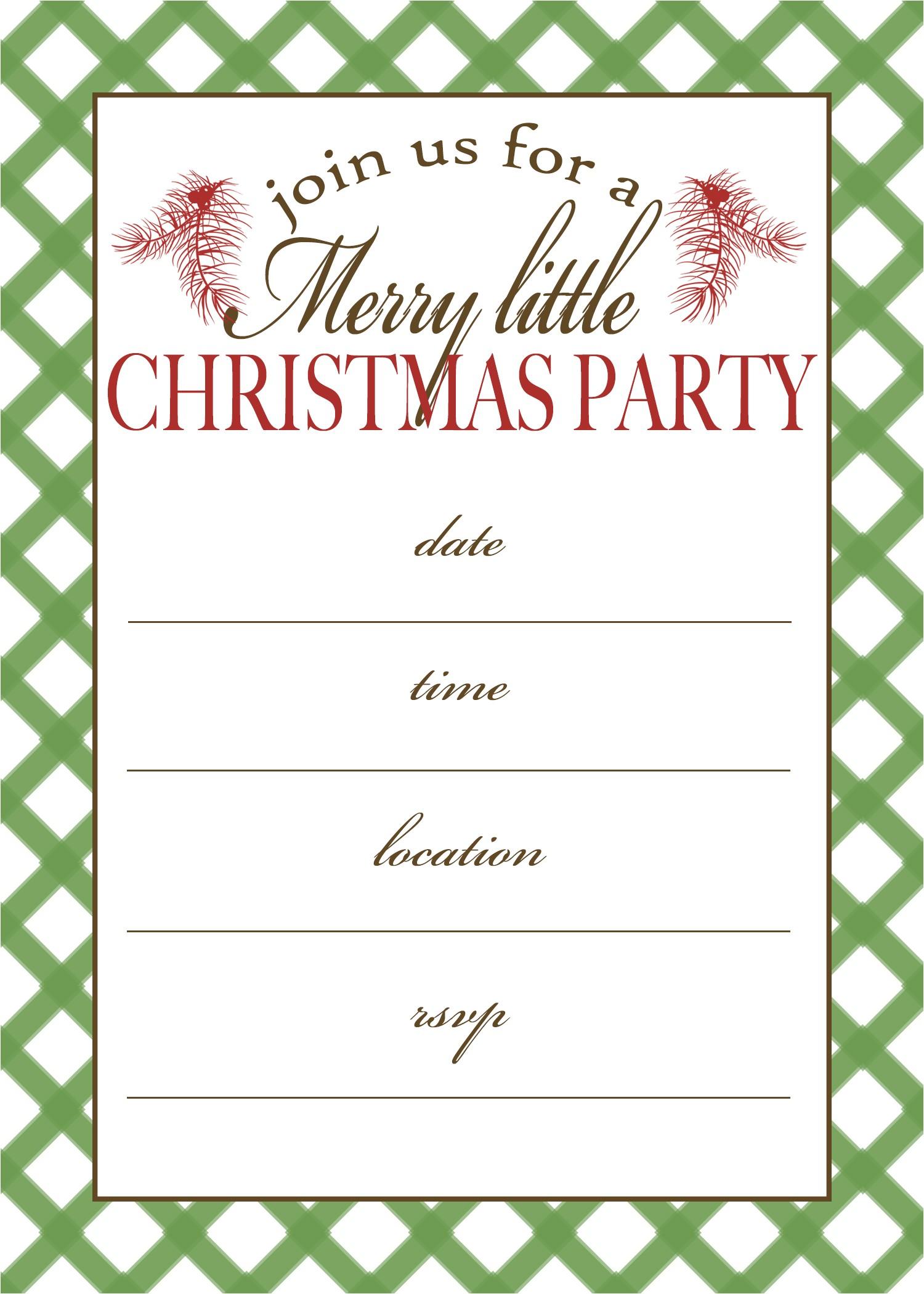post free printable christmas invitation templates