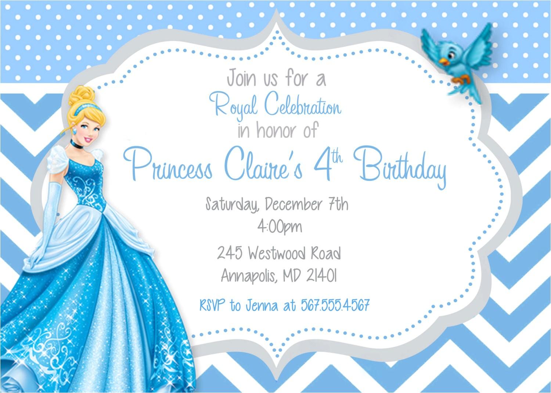 free printable cinderella birthday invitations