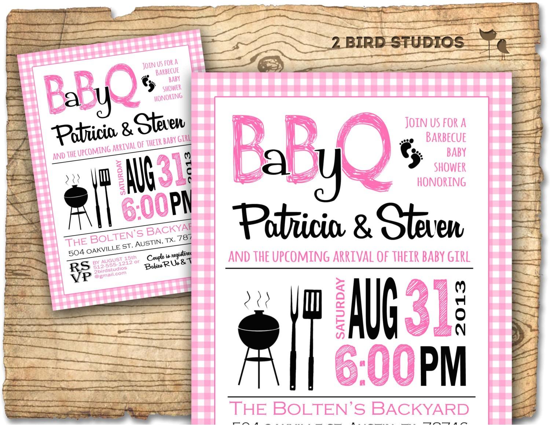 bbq baby shower invitation baby q baby