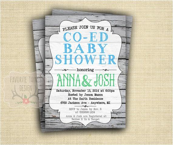 co ed baby shower invitation coed baby