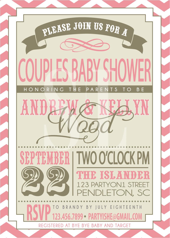 coed baby shower invites
