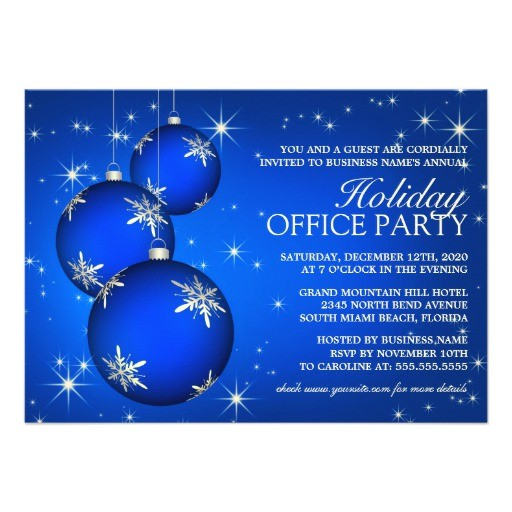 corporate holiday party invitation template