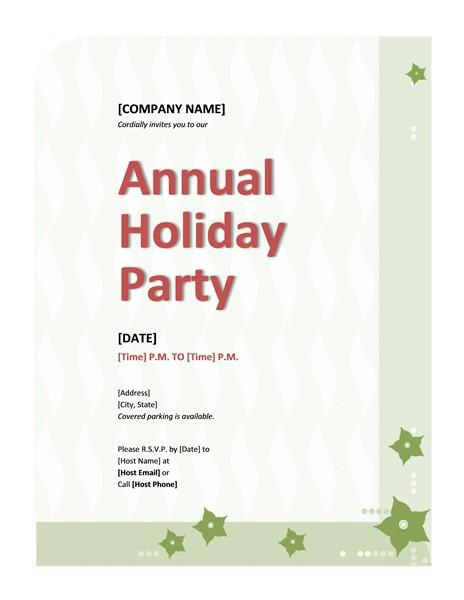 pany holiday party invitation 753
