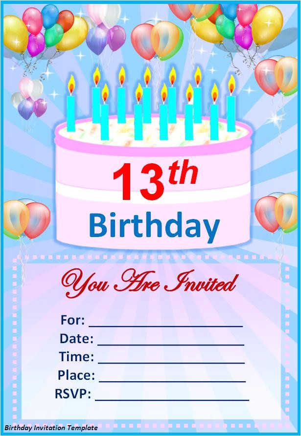 make your own birthday invitations free template