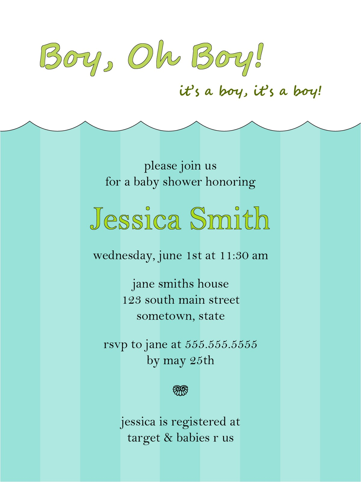 free baby shower invitations templates for boys