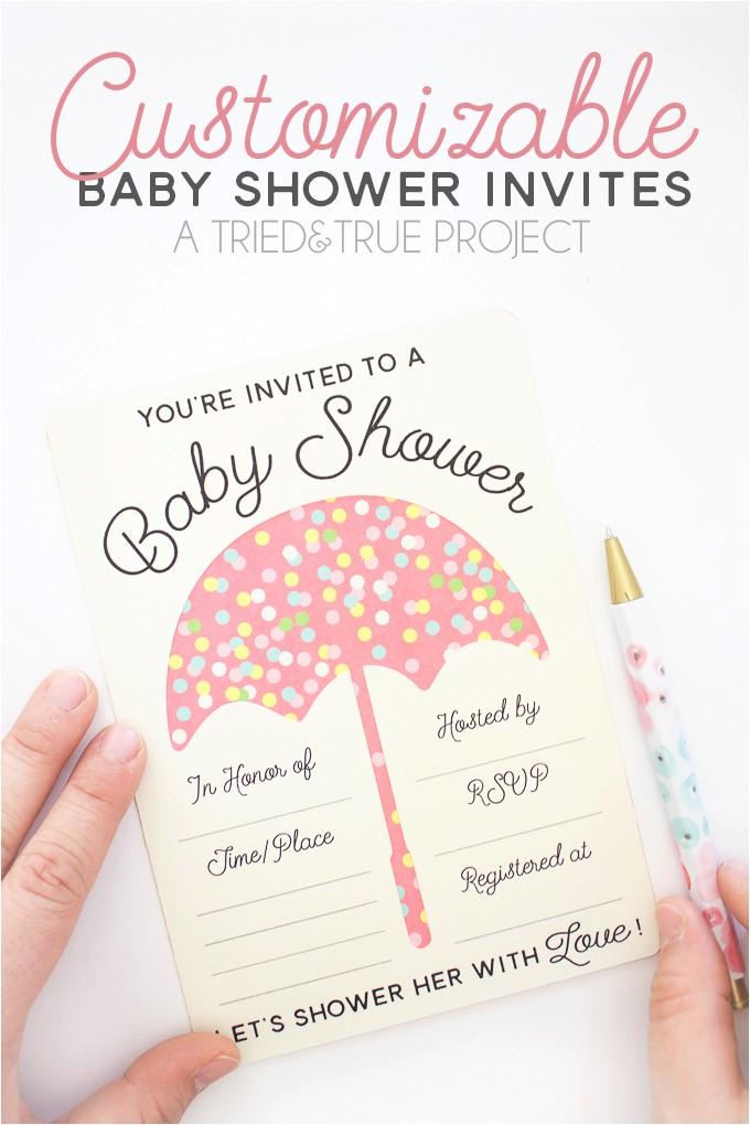 virtual baby shower invitations