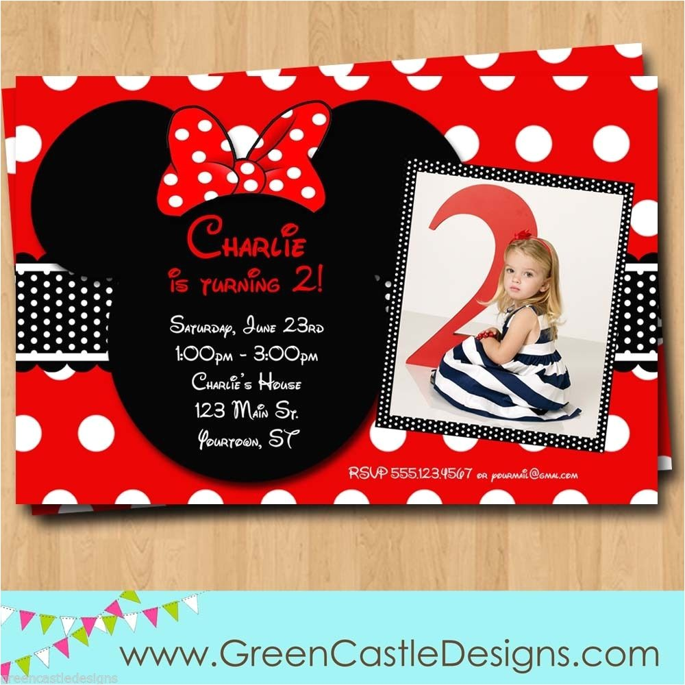 Free Customizable Minnie Mouse Birthday Invitations Free Customized Minnie Mouse Birthday Invitations Template