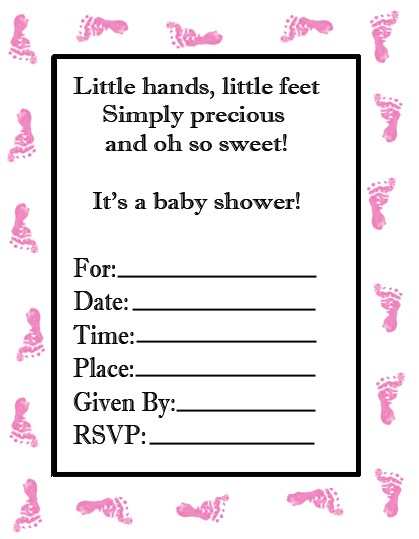 custom baby shower invitations template