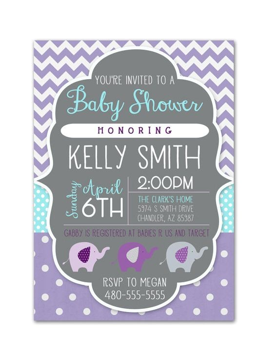 digital baby shower invitations