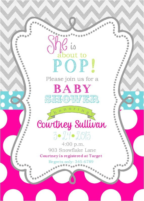 girls baby shower invitations digital or