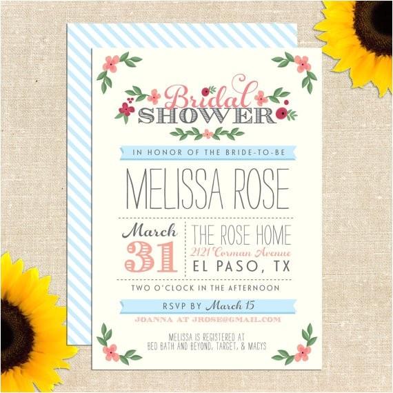 free printable bridal shower invitation