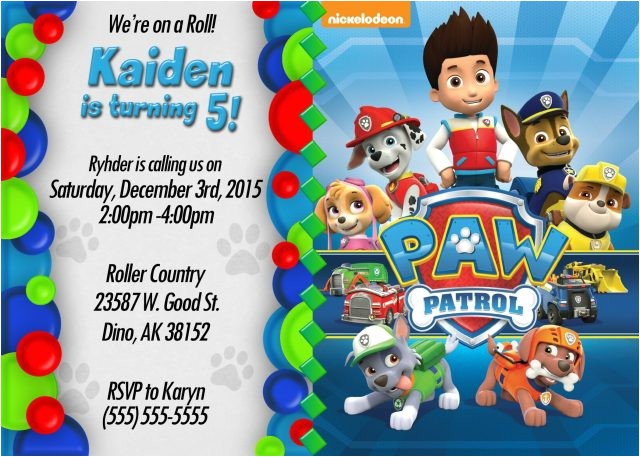 editable paw patrol invitations full size of design birthday invites e with blank infinite photos in conjunction chase