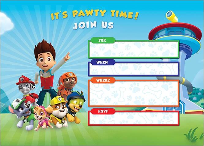 free printable paw patrol birthday invitations basic diy editable design