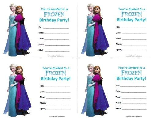 free frozen invitations
