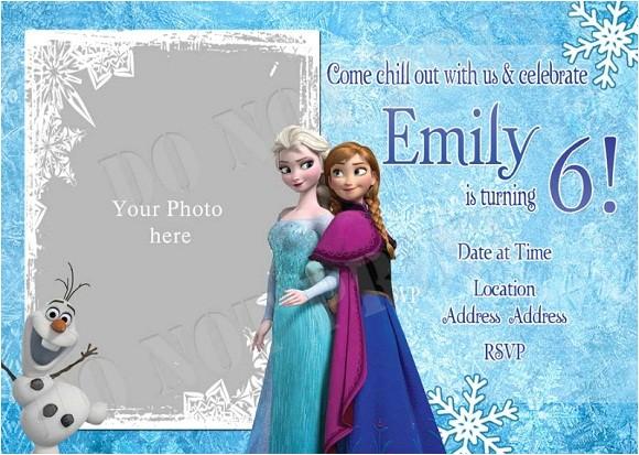 elsa frozen birthday party invitation ideas